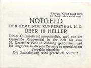 10 Heller (Ruppersthal) – reverse