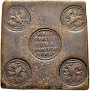 Grivna - Ekaterina I (Plate money) – obverse
