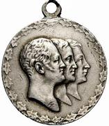 Medal - Nicholas II (100 years of the Battle of Leipzig) – obverse