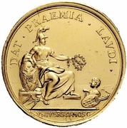 Medal - Elizabeth (Prize to students of Moscow University) – reverse