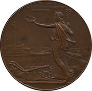 Medal - Nicholas II (100th Anniversary of the Ministry of Finance) – reverse