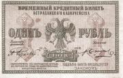 1 Ruble (Astrakhan Region) – obverse