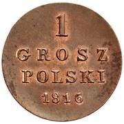 1 Grosz Polski -  Alexander I / Nikolai I – reverse