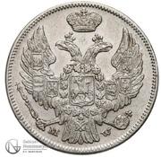 1 Złoty / 15 Kopěek - Nikolai I (Warszawa mint) -  obverse