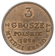 3 Grosze Polskie - Nikolai I – reverse