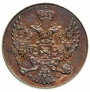 3 Grosze - Nikolai I (Warszawa mint) – obverse