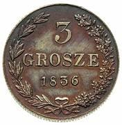 3 Grosze - Nikolai I (Warszawa mint) – reverse