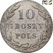 10 Groszy Polskich -  Alexander I / Nikolai I – reverse