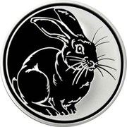 3 Rubles (The Year of the Rabbit) -  reverse