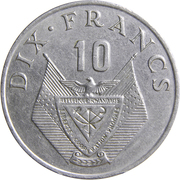 10 Francs (large type) – reverse