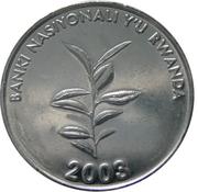 20 Amafaranga (Type 1 legend) – obverse