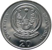 20 Amafaranga (Type 1 legend) – reverse