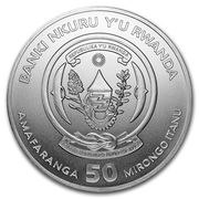 50 Francs (Shoebill; Silver Bullion) -  obverse