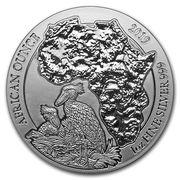 50 Francs (Shoebill; Silver Bullion) -  reverse