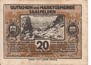 20 Heller (Saalfelden) – obverse