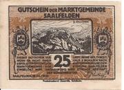 25 Heller (Saalfelden) – obverse