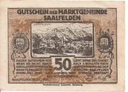 50 Heller (Saalfelden) – obverse