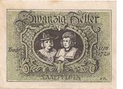 20 Heller (Saalfelden) – reverse