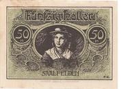 50 Heller (Saalfelden) – reverse