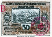 50 Heller (Saalfelden; Brown issue) – obverse
