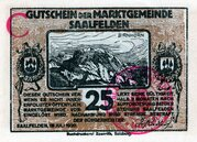 25 Heller (Saalfelden; Brown issue) – obverse