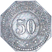 50 Pfennig - Sagan – reverse