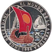 1000 Pesetas (Thor Heyerdahl) – reverse