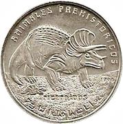 100 Pesetas (Triceratops) – reverse