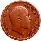 ¼ Anna - Edward VII – obverse
