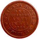 ¼ Anna - Edward VII – reverse