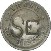 1 Stuiver (Cayenne-stuiver - British Occupation) – obverse