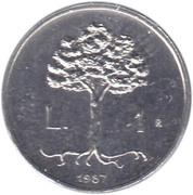 1 Lira (Faetano) – reverse