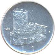 1 Lira (Fortifications) – reverse