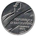 1 Lira (Anniversary of the Republic) – obverse
