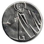 1 Lira (Anniversary of the Republic) – reverse