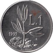 1 Lira (Olive Seedling) – reverse