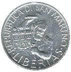 1 Lira (Marinus at Monte Titano) – obverse