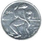 1 Lira (Marinus at Monte Titano) – reverse