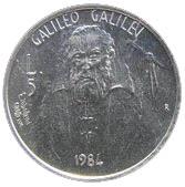 5 Lire (Galileo Galilei) – reverse