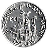 5 Lire (Statutes of Community) – obverse