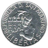 5 Lire (Marinus and Saint Leo) – obverse