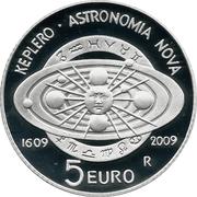 5 Euro (Johannes Kepler) -  reverse