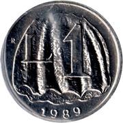 1 Lira (Monte Titano) – reverse