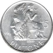 5 Lire (Platon) – reverse