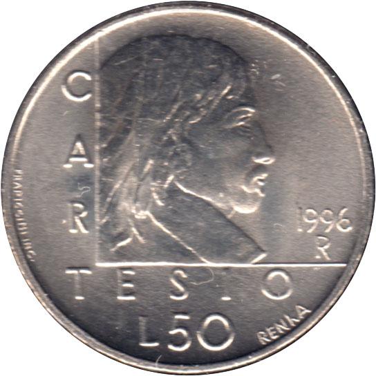 244 SAN MARINO 50 Lire 1996 FDC