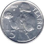 5 Lire (Theatre) – reverse