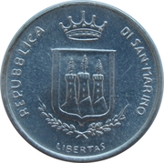 1 Lira (Threat of Nuclear War) – obverse