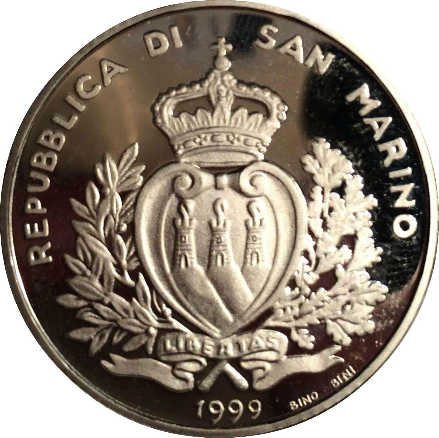 THIRD MILLENNIUM coin SAN MARINO 10000 LIRE 1999 SILVER Comm PROOF KM# 397