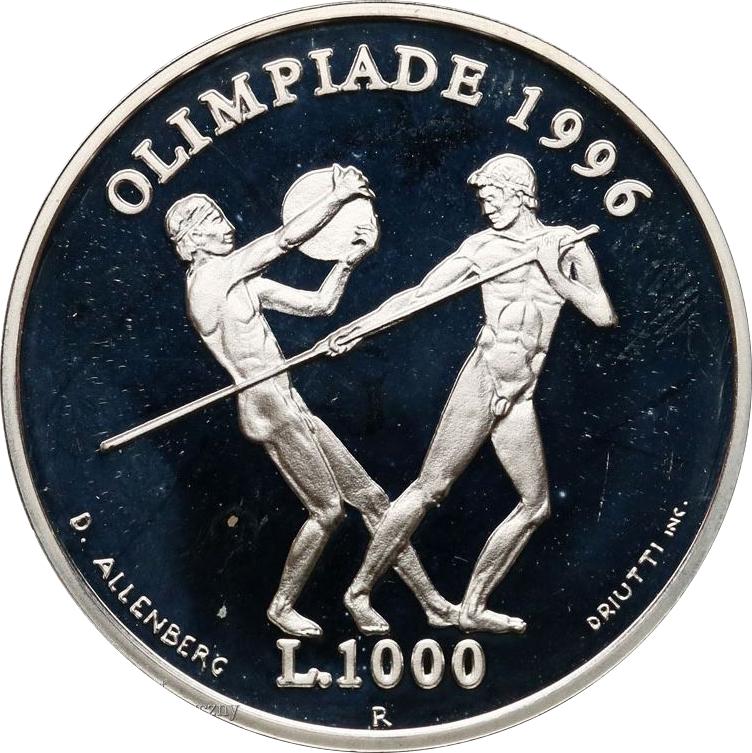 KM# 331 UNC Coin SAN MARINO 1000 LIRE 1995 CHILDREN PYRAMID SILVER Commem