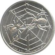 1 Lira (Spiders in Web) – reverse